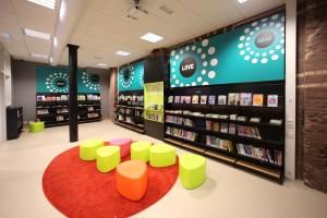 Blackbox řešení v Městské knihovně v Utrechtu, pobočka Oog in Al (foto Bieb Systemen)